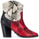 Schutz snakeskin-effect boots