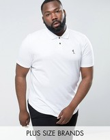 Religion Plus Polo Shirt With Curved Hem