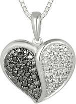FINE JEWELRY 1/5 CT. T.W. White and Color-Enhanced Black Diamond Pendant Necklace