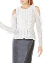 BCBGMAXAZRIA Maddy Cold-Shoulder Lace Top