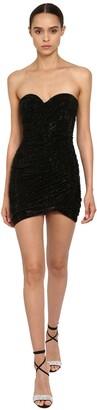Alexandre Vauthier Crystal Embellished Jersey Dress