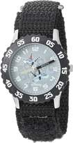 Disney Kids' W000881 Planes Bravo Echo Stainless Steel Black Bezel Black Nylon Strap Watch