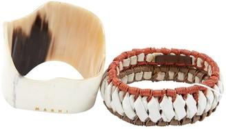 Marni Multicolour Leather Bracelets