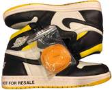 Jordan Air 1 Yellow Leather Trainers