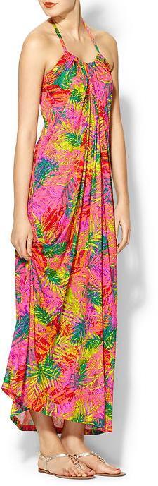 Velvet by Graham & Spencer Danna Neon Fern Maxi Dress
