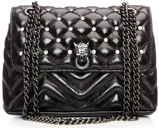Moda In Pelle Jennaminiquilt Black Patent Pu
