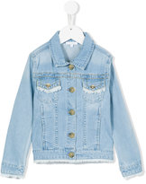 Chloé Kids - frayed denim jacket - kids - Cotton/Polyester - 4 yrs