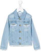 Chloé Kids - frayed denim jacket - kids - Cotton/Polyester - 8 yrs