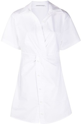 Alexander Wang Twist-Detail Shirt Dress