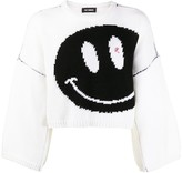 Raf Simons cropped smiley jumper