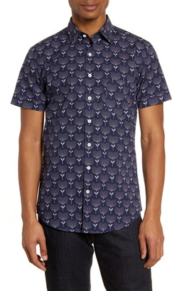Rodd & Gunn Govan Regular Fit Floral Short Sleeve Button-Up Shirt