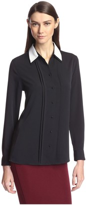 Society New York Women's Double Collar Shirt