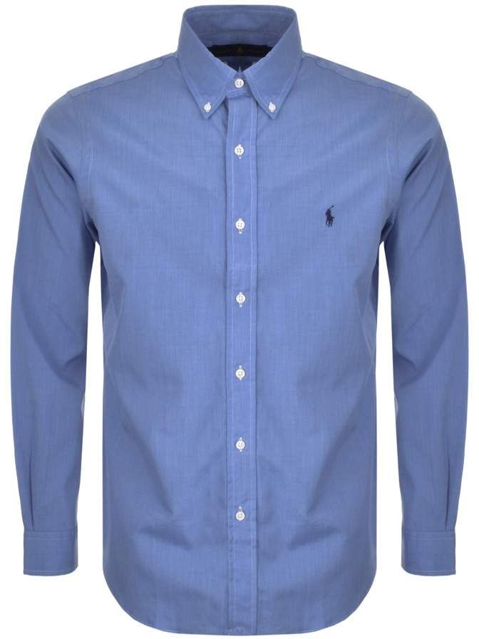 Ralph Lauren Custom Fit Shirt Blue