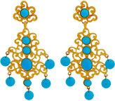 One Kings Lane Vintage Turquoise Shoulder Duster Earrings