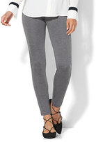 New York & Co. 7th Avenue Design Studio - Legging Fit - Ponte - Heather Grey Colorblock
