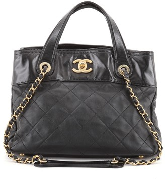 Chanel In The Mix Shopping Bag Quilted Calfskin Small