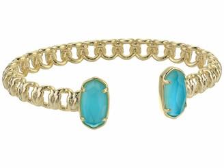 Kendra Scott Macrame Elton Cuff Bracelet for Women Fashion Jewelry 14k Rose Gold-Plated