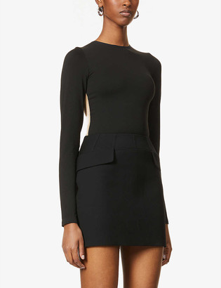 Wolford Hera sheer-panel stretch-woven body