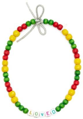 LAUREN RUBINSKI Loved Wooden-bead Necklace - Green Multi