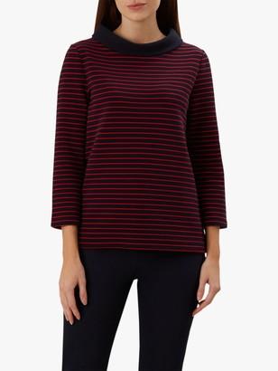 Hobbs Coleta Striped Top, Navy/Red
