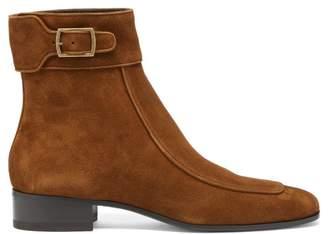 Saint Laurent Miles 30 Suede Boots - Mens - Brown