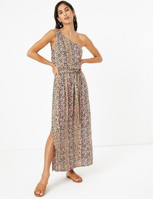 Marks and Spencer Printed One Shoulder Maxi Beach Dress