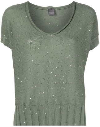 Lorena Antoniazzi Sequin-Embellished Knitted Top