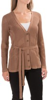 Pendleton Belted Cardigan Sweater - Silk Blend (For Women)