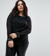 Koko Plus Top With Embellished Collar