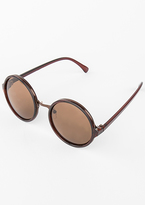 Missy Empire Holly Brown Tinted Round Sunglasses