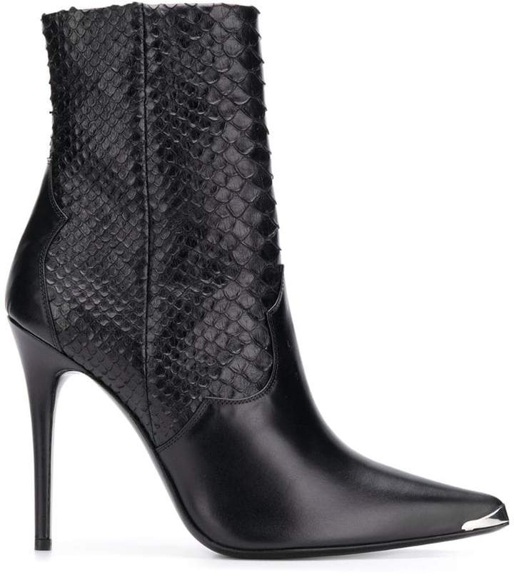 Amiri python skin boots