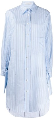 J.W.Anderson pinstriped buttoned shirt dress