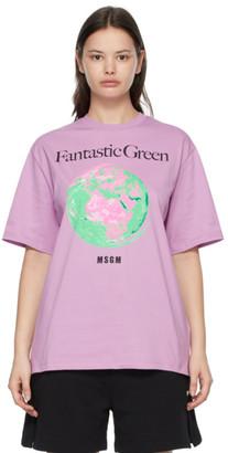 MSGM Purple Fantastic Green T-Shirt