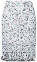 Coohem tweed pencil skirt - women - Cotton/Nylon/Polyester - 36