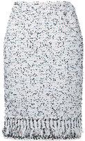Coohem tweed pencil skirt - women - Cotton/Nylon/Polyester - 40