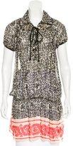 Anna Sui Floral Print Silk Tunic