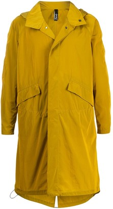 Hevo Relaxed-Fit Hooded Trench Coat