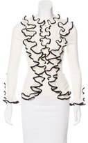 Alexander McQueen Ruffled Button-Up Cardigan