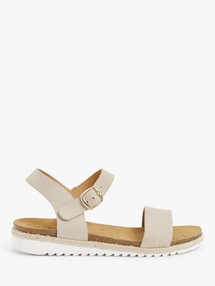 John Lewis & Partners Designed for Comfort Lotus Leather Two Part Sandals