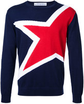 Education From Youngmachines - star jumper - men - Cotton/Linen/Flax - 1