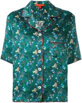Hilfiger Collection - floral print shortsleeved shirt - women - Silk - 4
