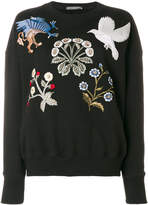 Alexander McQueen embroidered patch jumper