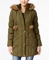 American Rag Faux-Fur-Trim Puffer Coat, Only at Macy's