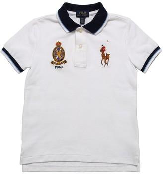 Ralph Lauren Embroidered Cotton Piquet Polo Shirt