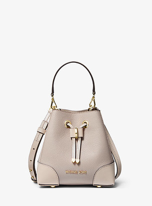Michael Kors Mercer Gallery Extra-Small Color-Block Pebbled Leather Crossbody Bag