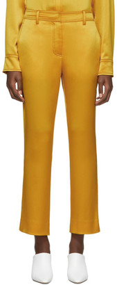 Sies Marjan Yellow Crinkled Satin Willa Trousers