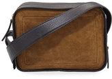 Derek Lam 10 Crosby Spring Suede & Leather Crossbody Bag, Tobacco/Black