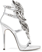 Giuseppe Zanotti Cruel Embellished Metallic Leather Sandals - Silver