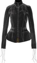 Haider Ackermann Lace-up Velvet Jacket - Black