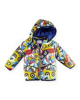 Fendi Hooded Monster-Print Jacket, Blue/Multicolor, Size 12-24 Months